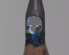 Little Sculptures Into The Tips Of Pencils